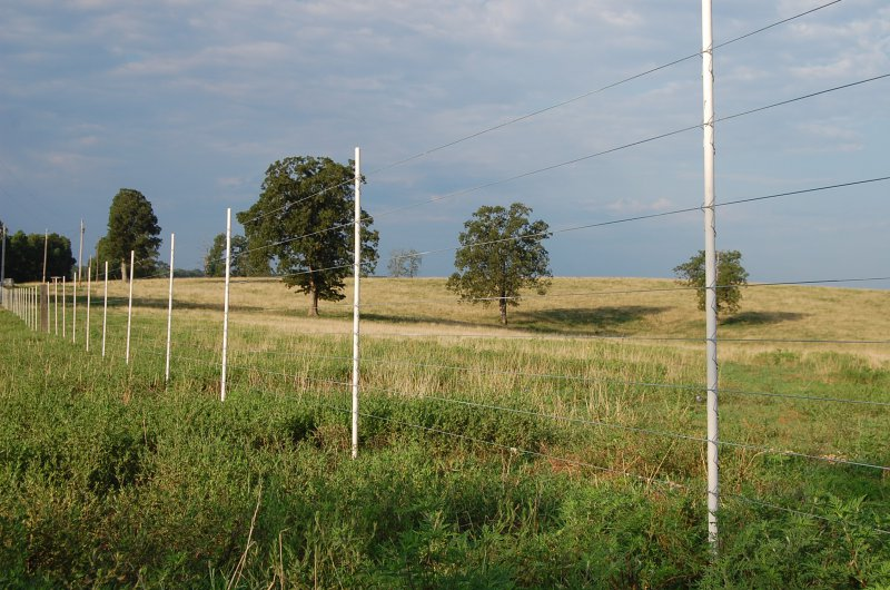 Fencing For Rocky Or Compacted Ground Using A Dropper