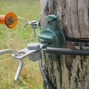 Actuators with insulated wire leads from the fence