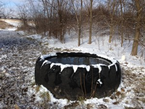 Freeze proof tire tank-